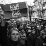 Marche républicaine à Grenoble